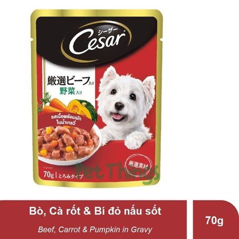 Cesar Japan Beef & Vegetable in Gravy 70g