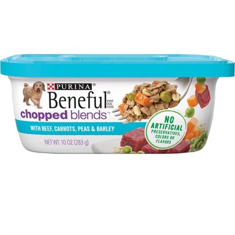 Purina Beneful Chopped Blends With Beef, Carrots, Peas & Barley 283g