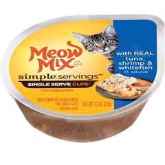 Meow Mix Simple Servings Tuna, Shrimp & Whitefish 37g
