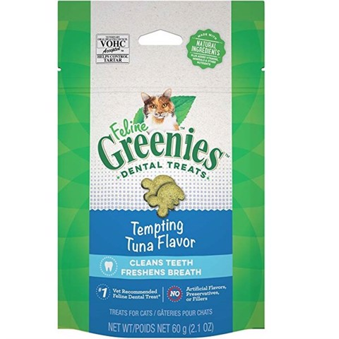 Feline Greenies Dental Treats Tempting Tuna