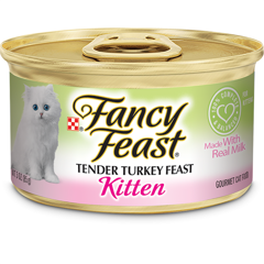 Fancy Feast Grain Free Pate Kitten Turkey 85g