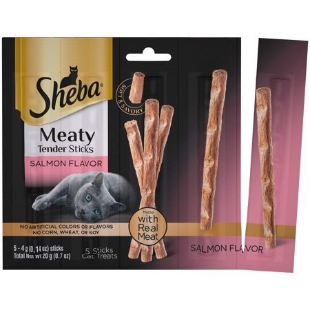 Sheba Meaty Tender Sticks Salmon, 5 count