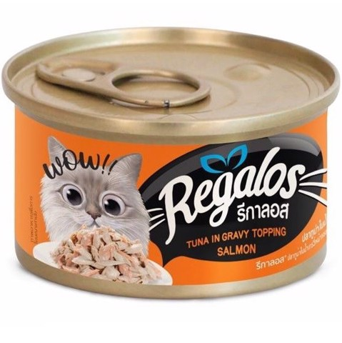 Regalos Cat Food Tuna in Gravy topping Salmon 80g