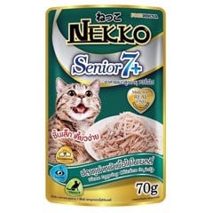 Nekko Senior 7+ Tuna topping Chicken in jelly 70g