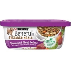 Purina Beneful Gravy Prepared Meals Simmered Beef 283g
