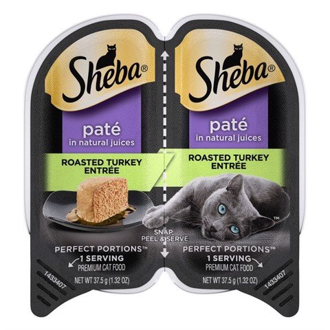 Sheba Perfect Portions Grain Free Paté Roasted Turkey 37.5gx2