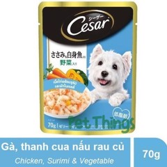 Cesar Japan Chicken Meat with Surimi And Vegetables in Jelly 70g