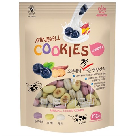 Bow Wow MiniBall Cookies Combo 150g