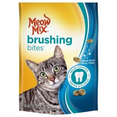 Meow Mix Brushing Bites with Real Tuna Dental Cat Treats 64g