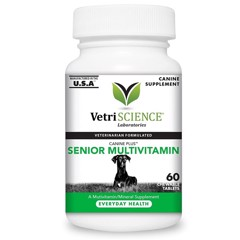 VetriScience Laboratories Canine Plus Senior Multi Vitamin for Dogs 60 chew