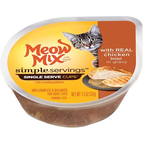 Meow Mix Simple Servings Chicken Breast in Gravy 37g