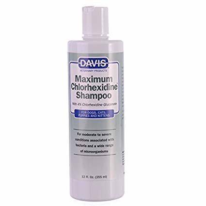 DAVIS Maximum Chlorhexidine (4%) Shampoo 355ml