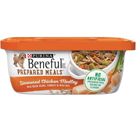Purina Beneful Prepared Meals Simmered Chicken Medley with Green Beans, Carrots & Wild Rice 283g