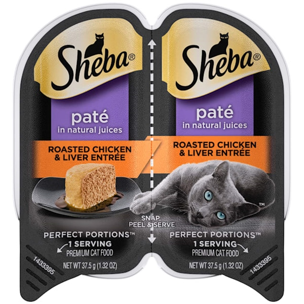 Sheba Perfect Portions Grain Free Paté Roasted Chicken & Liver 37.5gx2