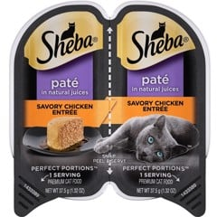 Sheba Perfect Portions Grain Free Paté Savory Chicken 37.5gx2