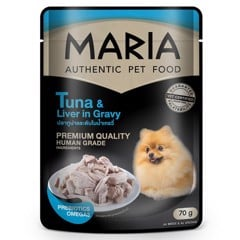 Maria dog Tuna & Liver in Gravy 70g
