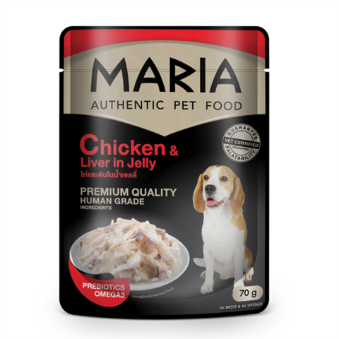 Maria dog Chicken & Liver in Jelly 70g
