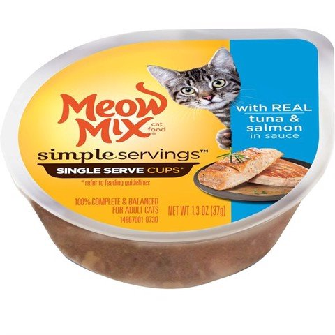 Meow Mix Simple Servings Tuna & Salmon in Sauce 37g