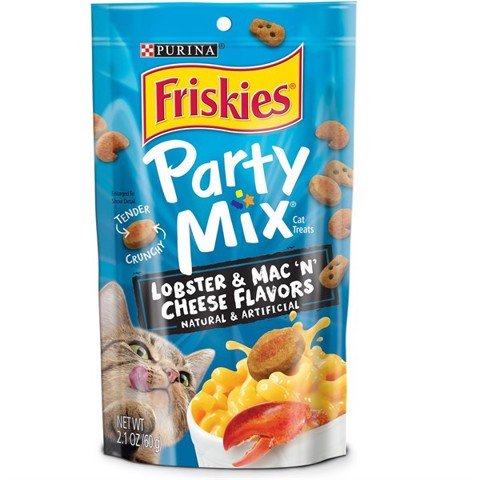 Friskies Party Mix USA Tender Crunchy Lobster Mac N' Cheese 60g