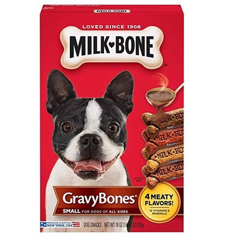 Milk-Bone GravyBones Small Biscuit Dog Treats, 19-oz (539g)