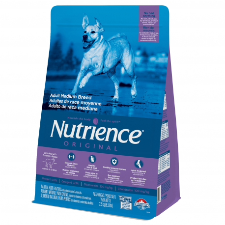 Nutrience Original Adult Dog Medium Breed, Lamb Meal with Brown Rice