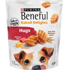 Purina Beneful Baked Delights Hugs with Real Beef & Cheese, 8.5-oz (241g)