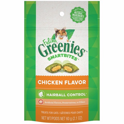 Feline Greenies SmartBite Hairball Control Chicken