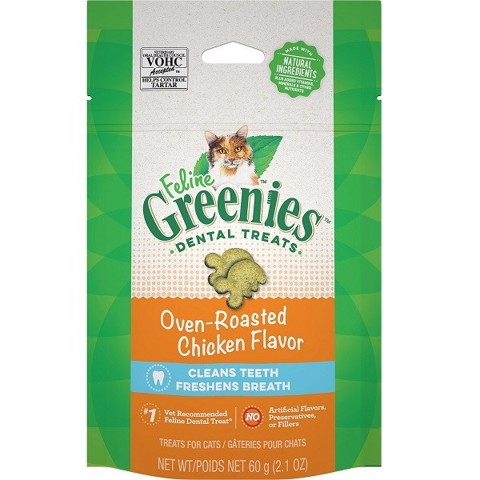 Feline Greenies Dental Oven Roasted Chicken