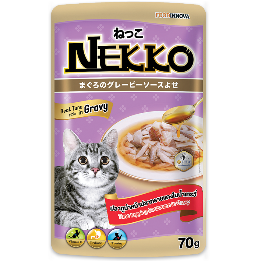 Nekko Tuna topping Sea Bream in gravy 70g