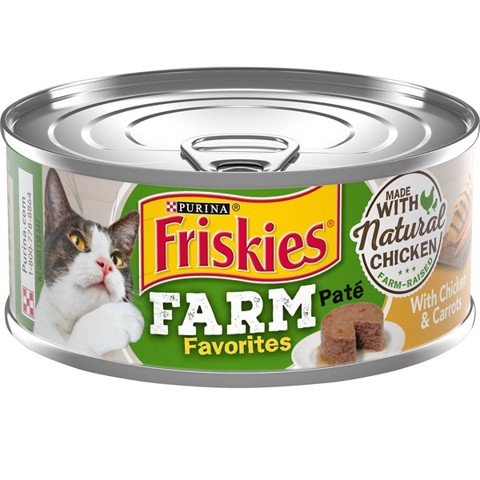 Friskies USA Farm Favorites Pate Chicken & Carrots 156g
