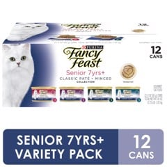 Fancy Feast Senior 7+ Classic Paté + Minced Variety Pack, 85g*12
