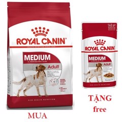 Combo Royal Canin Medium Adult 1kg + Medium Adult 140g