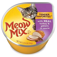 Meow Mix Tender Turkey & Giblet in Sauce 78g