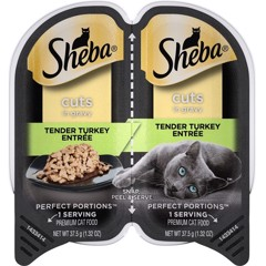 Sheba Perfect Portions CUTS in gravy Tender Turkey 37.5gx2