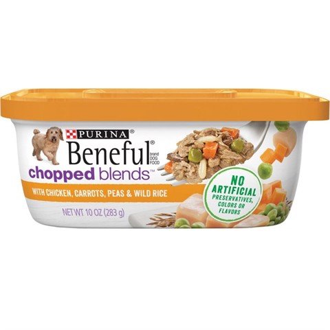 Purina Beneful Chopped Blends With Chicken, Carrots, Peas & Wild Rice 283g
