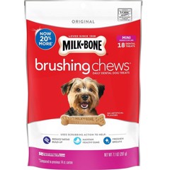 Milk-Bone Original Brushing Chews Daily 18 Mini Dental Dog Treats