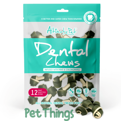 Altimate Pet Dental Chews 12 Knotted Bone 150g