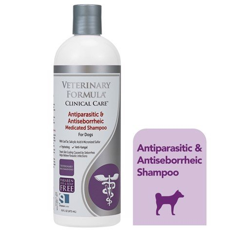 Veterinary Formula Antiparasitic & Antiseborrheic Shampoo 473ml