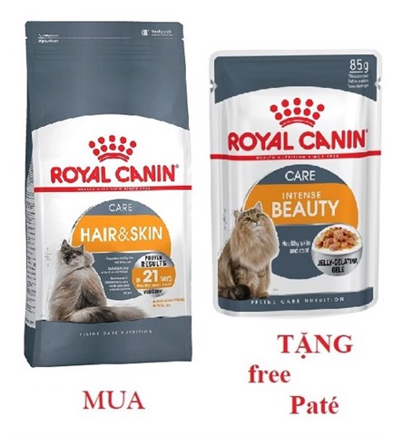 Combo Royal Canin Hair & Skin Care 400g + 1 Intense Beauty 85g