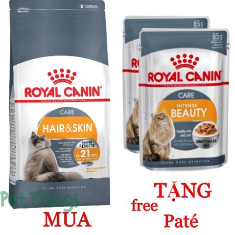 Combo Royal Canin Hair & Skin Care 2kg + 2 Intense Beauty 85g