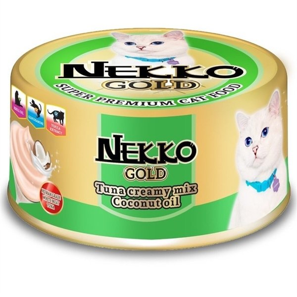 Nekko Gold Tuna creamy mix Coconut oil 85g