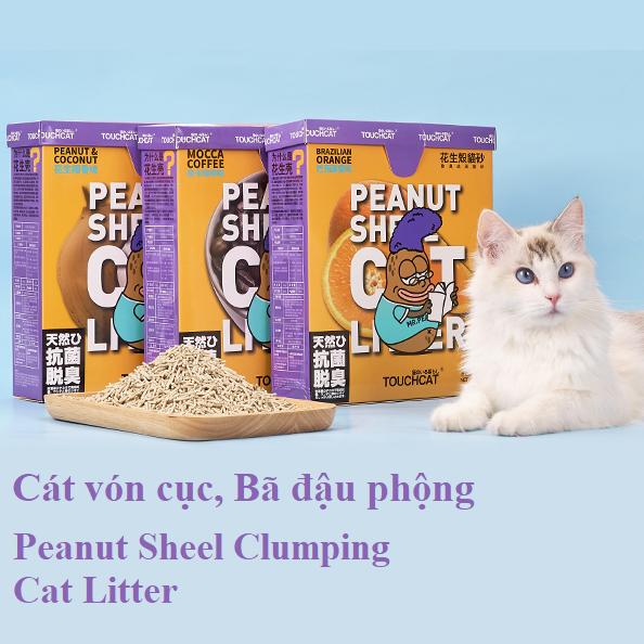 TouchCat Cát vệ sinh vỏ đậu phộng Peanut Shell 2.5kg
