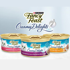 Fancy Feast Creamy Delights with Real Milk 85g