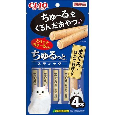 CIAO churu Stick 4pcs - CS-122 Maguro+Scallop