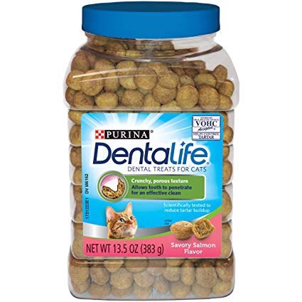 DentaLife Savory Salmon Flavor Dental Cat Treats 383g
