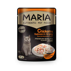 Maria cat Chicken & Salmon in Gravy 70g