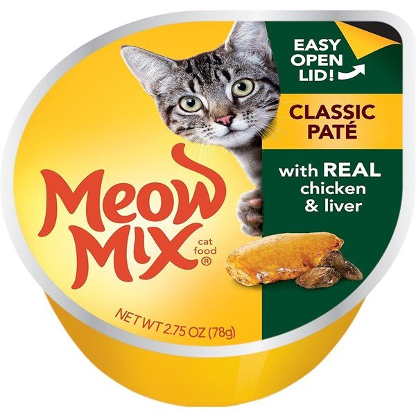 Meow Mix Classic Paté Chicken & Liver 78g