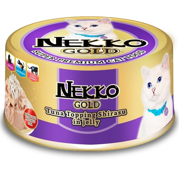 Nekko Gold Tuna topping Shirasu in Jelly 85g