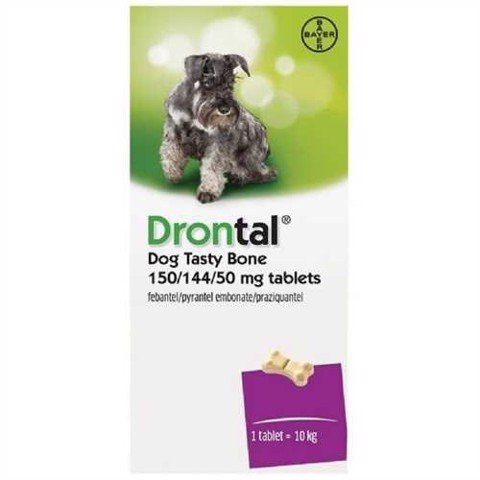 Drontal Tasty Bone 150/144/50mg (1viên/1tab)