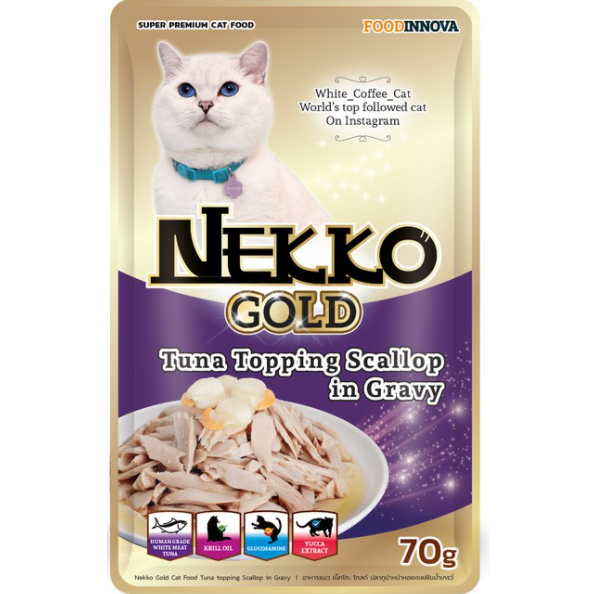 Nekko Gold Tuna topping Scallop in Gravy 70g